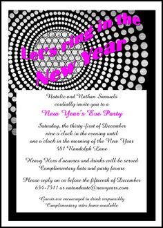 save time searching for your chandelier reflection party invitation wordings for new years and look at