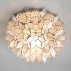 Capiz Petal Flush Mount Ceiling Light