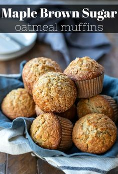 These maple brown sugar oatmeal muffins are a healthy, hea. These maple brown sugar oatmeal muffins are a healthy, hea. These maple brown sugar oatmeal muffins are a healthy, hea. Healthy Muffins, Healthy Breakfast Recipes, Healthy Baking, Healthy Recipes, Easy Recipes, Healthy Breakfasts, Healthy Food, Health Muffin Recipes, Oatmeal Breakfast Recipes
