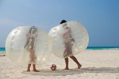 While at Sandos Playacar, don't miss our Crazy Balls game