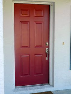 my red door! caliente redbenjamin moore | exterior designs