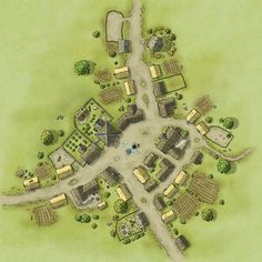 Map of a smallish village. (Lynnrassa from Cartographers' Guild)
