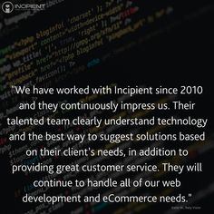 We offer e-commerce solutions to the most complex business challenges with cooperative process-driven! Here is a testimony from Baby Vision! • Incipient Apps helps you bridge the gap between your business & tech goals to develop web + mobile APPLICATIONS FOR GROWTH. Business growth ideas, business growth strategies, app development process, entrepreneur startup strategies & more http://www.incipientapps.com/ #WebDev #AppDev #Entrepreneur #Startup #SME