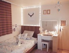Fairy lights will make any bedroom feel ~magical~. | 21 Cosy AF Bedroom Goals