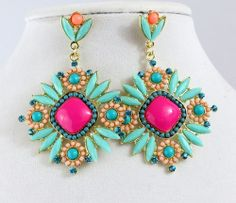 Cowgirl Bling Cowgirl EARRINGS Gypsy BOHO Turquoise Hot Pink Southwest Tribal  our prices are WAY BELOW RETAIL! all JEWELRY SHIPS FREE! www.baharanchwesternwear.com baha ranch western wear ebay seller id soloedition