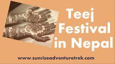 Teej is the biggest Festive of Females in Nepal.   Read more at: http://sunriseadventuretrek.com/blog/teej-festival-in-nepal