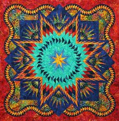 Glacier Star ~Quiltworx.com, made by Certified Instructor Jackie Kelso
