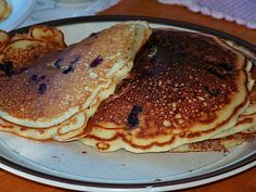 Huckleberry pancakes to die for! Nothing like wild huckleberries from Montana!