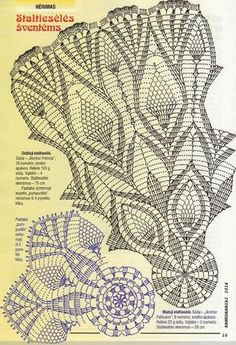 Two doily with pineapple