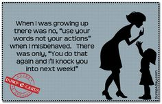 When I was growing up Dump E-card