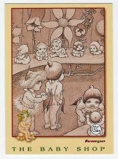 May Gibbs Cards # 66 - The Baby Shop