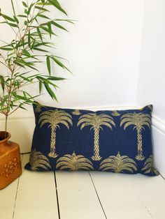 A personal favourite from my Etsy shop https://www.etsy.com/uk/listing/537125854/cushion-cover-in-midnight-blue-linen