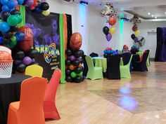 Farrah Ruth Productions 's Birthday / Space jam - Photo Gallery at Catch My Party 1st Birthday Party Themes, Baby Boy 1st Birthday, Birthday Ideas, Space Jam Theme, Looney Tunes Party, Basketball Baby Shower, Space Baby Shower, Caleb, First Birthdays