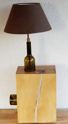 Złamana butelka :-) w Art Wood Kawkowo na DaWanda.com Table Lamp, Lighting, Etsy, Home Decor, Table Lamps, Decoration Home, Room Decor, Lights, Home Interior Design