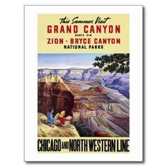 Ce canyon grand de visite d'été cartes postales | Zazzle