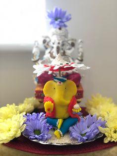 Ganesh Pooja, Shri Ganesh, Lord Ganesha, Birthday Candles, God, Garden, Dios, Garten, Lawn And Garden
