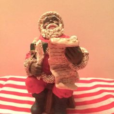 Vintage African Santa with List of Good Boys and Girls