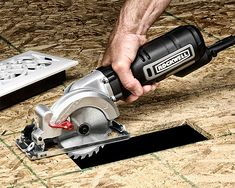 This could come in handy around the house... Rockwell Mini Circular Saw