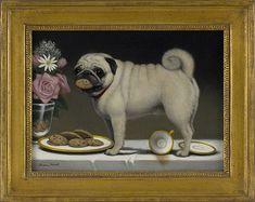 Playful Pug Painting - just love it! Bulldogs, Pug Photos, Pug Pictures, Dog Loss Quotes, Pug Cartoon, Old Pug, Pug Shirt, Fu Dog, Pugs And Kisses