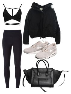 Untitled #353 by eaubleue on Polyvore featuring polyvore, fashion, style, Acne Studios, NIKE, CÉLINE and clothing