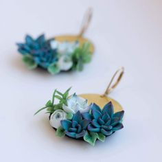 Updates from EtenIren on Etsy Polymer Clay Crafts, Diy Clay, Polymer Clay Earrings, Birthday Accessories, Clay Flowers, Clay Tutorials, Clay Charms, Clay Projects, Clay Creations