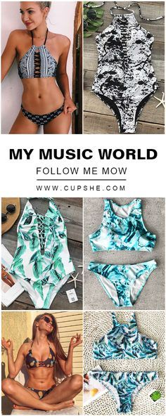 Happy music festival~ Escape to your next destination, whether it's poolside or beach. Join us with cupshe hot bikini, sing and dance like a super star.