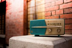 dustworkshop   Melodies of the Radio 流金歲月   retro vintage + radio + blue turquoise orange rust gold tan