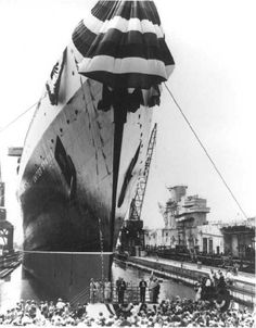 At the launching ceremony for the SS United States, June 23, 1951.