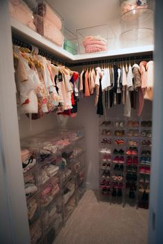 Jenni Pulos Nursery Closet (Look at that shoe collection!)