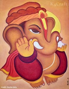 Let kids join in the fervour of the festive season with Ganesh Chaturthi crafts and activities! With easy DIY and more there is something for everyone! Ganesha Drawing, Lord Ganesha Paintings, Ganesha Art, Shiva Art, Hindu Art, Peacock Painting, Fabric Painting, Poster Rangoli, Art Painting Gallery