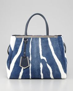 e454f5f309d8 2Jours Medium Zebra-Print Calf Hair Tote Bag