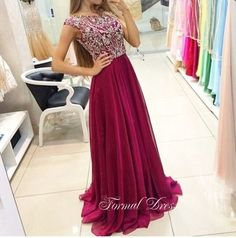 Custom Made A-line Chiffon Rhinestone Prom Dress, Evening Dress , Dress,Prom Dresses · Formal Dress · Online Store Powered by Storenvy