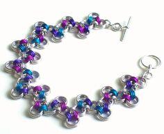 Japanese Zig Zag Chain Mail Bracelet by katestriepenjewelry, $45.00