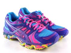 Asics Gel Kayano 18 Women's Running Shoes. I love the colors