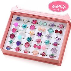 PinkSheep Little Girl Jewel Rings in Box, Adjustable, No Duplication, Girl Pretend Play and Dress Up Rings. out of 5 stars via 227 ratings in Toys & Games Little Girl Toys, Cool Toys For Girls, Baby Girl Toys, Little Girl Gifts, Little Girls, Girls Toys, Makeup Kit For Kids, Kids Makeup, Kids Rings