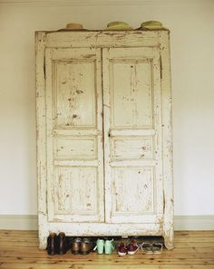 Armoire. I have two armoires to do this with.