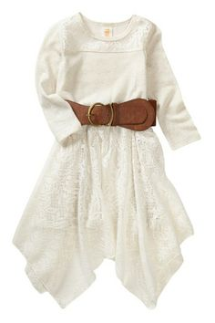 Tru Luv Boho Knit Lace Dress (Little Girls & Big Girls) by Little Mass on @HauteLook