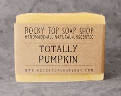 Pumpkin soap.