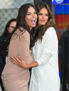 Star Tracks: Tuesday, November 4, 2014 | BOSOM BUDDIES | Victoria's Secret Angels Adriana Lima and Alessandra Ambrósio have a blast while visiting Good Morning America on Monday in New York City to promote their brand's 2014 Fantasy Bras – valued at $2 million apiece!