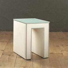 Hayden Upholstered Table, Ballard Designs