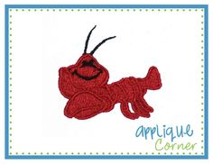 Lobster Filled Mini Embroidery Design