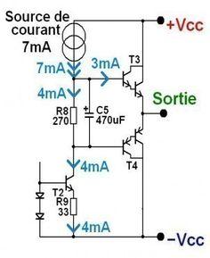 ampli ultra simple a schema 5 Power Supply Circuit, Electronic Schematics, Circuit Diagram, Audio Amplifier, Boombox, Simple, Diy, Stuff Stuff, Autos