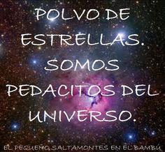... Polvo de estrellas, somos pedacitos del universo.