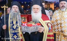 Υποδοχή της τιμίας Κάρας του οσίου Δαβίδ από την Εύβοια στον ιερό Ναό Αγίας Βαρβάρας