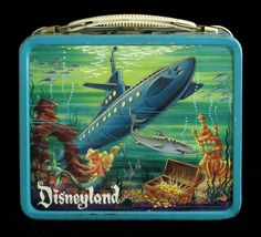 I'm not into lunchbox collecting, but I love this Disneyland one from 1959. If only the ride were still CAPTAIN Nemo and the Nautilus instead of FINDING Nemo...