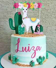 Birthday Menu, Birthday Party Games For Kids, Mexican Birthday, Llama Birthday, My Birthday Cake, 4th Birthday Parties, Cactus Cake, Party Fiesta, Themed Cakes