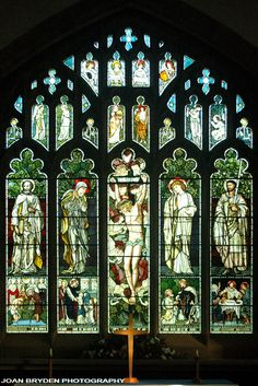 Window in Jesus Church, Troutbeck by Sir Edward Burne-Jones and William Morris. The Lake District, Cumbria