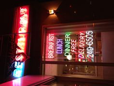 New York loves delivery and neon lights #citylights