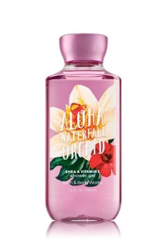 ALOHA WATERFALL ORCHID - SHOWER GEL - Signature Collection - Bath & Body Works - Wash your way to softer, cleaner skin with a rich, bubbly lather bursting with fragrance. Moisturizing Aloe and Vitamin E combine with skin-loving Shea Butter in our most irresistible, beautifully fragranced formula!