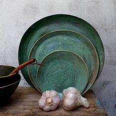 Items similar to green wabi sabi dinner plate on Etsy Farmhouse Dinnerware Sets, Rustic Dinnerware, China Dinnerware Sets, Stoneware Dinnerware Sets, Modern Dinnerware, Ceramic Tableware, Farmhouse Dinner Plates, Kitchenware, Rustic Plates